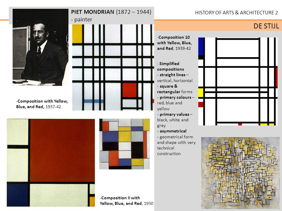 CHARACTERISTICS of DE STIJL: ideas of spiritual harmony ... | 960 x 720 jpeg 116kB