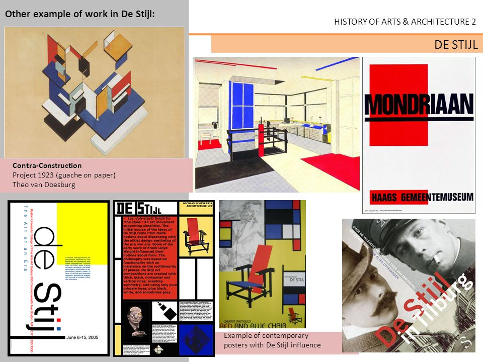 Other example of work in De Stijl: