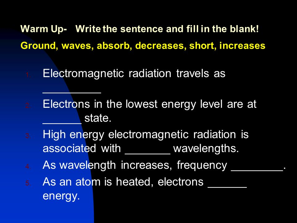 Electromagnetic radiation travels as _________