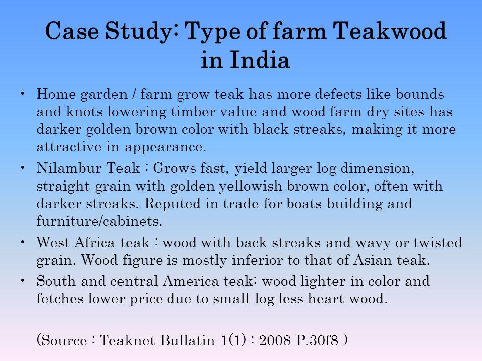 Case Study: Type of farm Teakwood in India