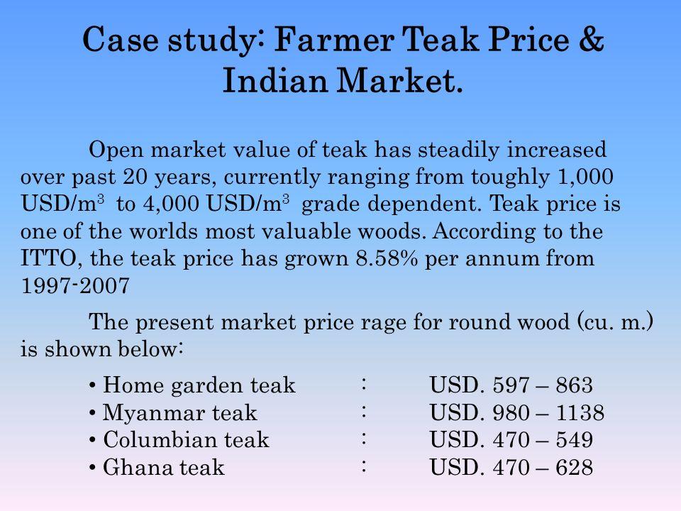 Case study: Farmer Teak Price & Indian Market.