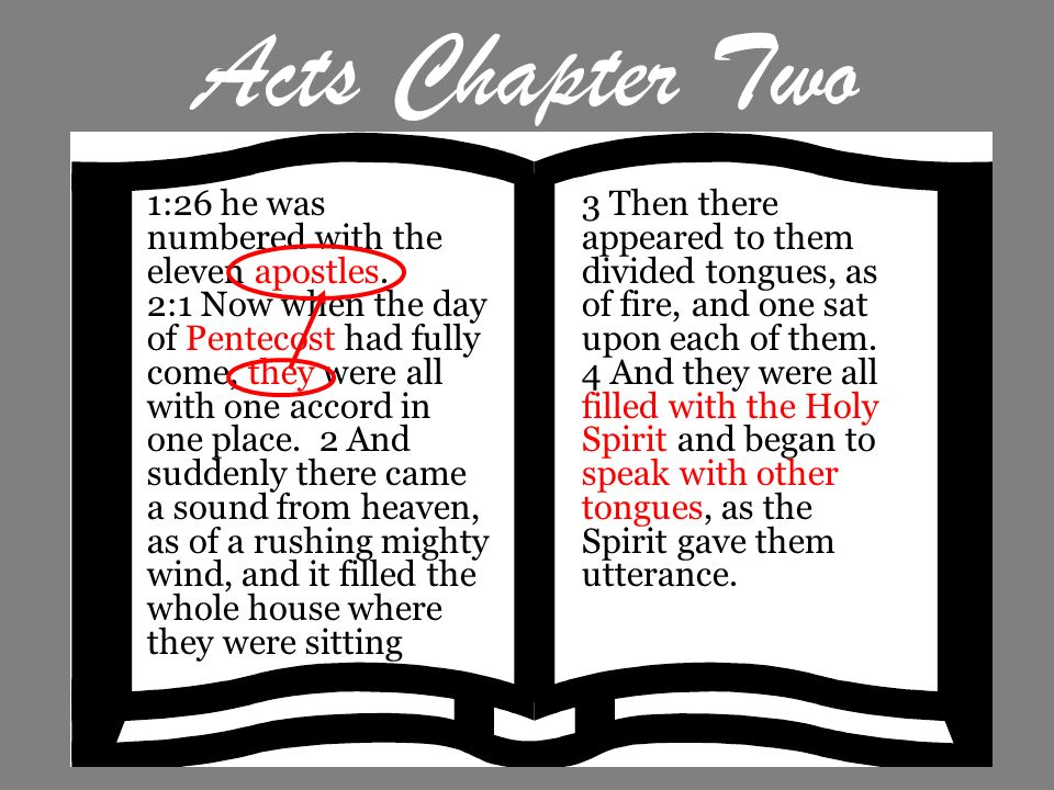 Acts Chapter Two 1:26 he was numbered with the eleven apostles.