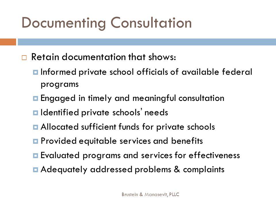 Documenting Consultation