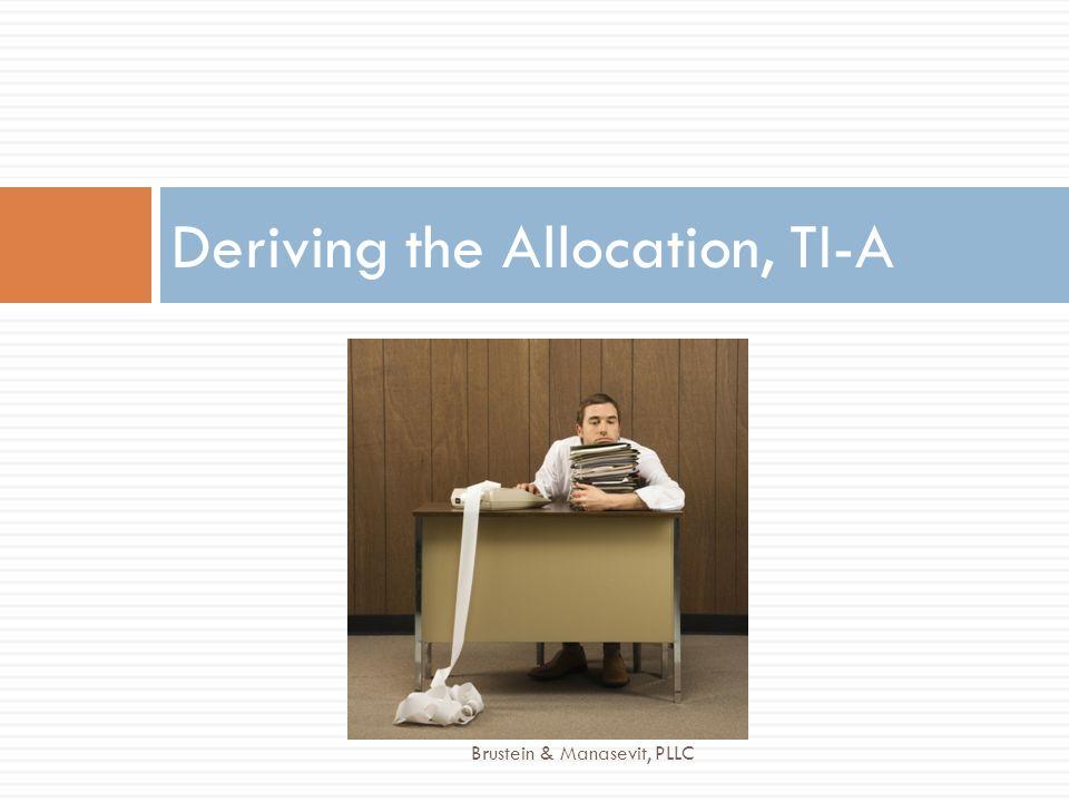 Deriving the Allocation, TI-A