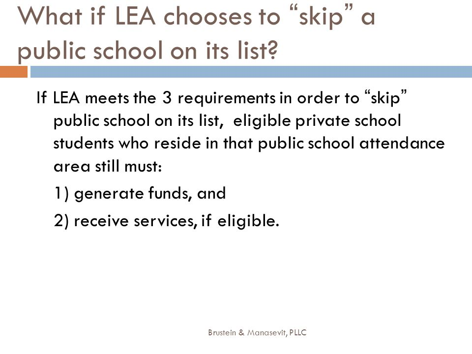 What if LEA chooses to skip a public school on its list