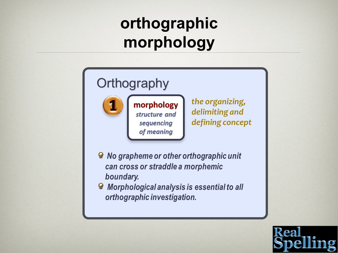 morphology structure and sequencing