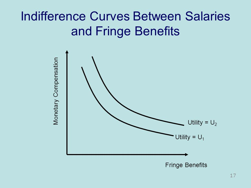 Indifference Curves Between Salaries and Fringe Benefits