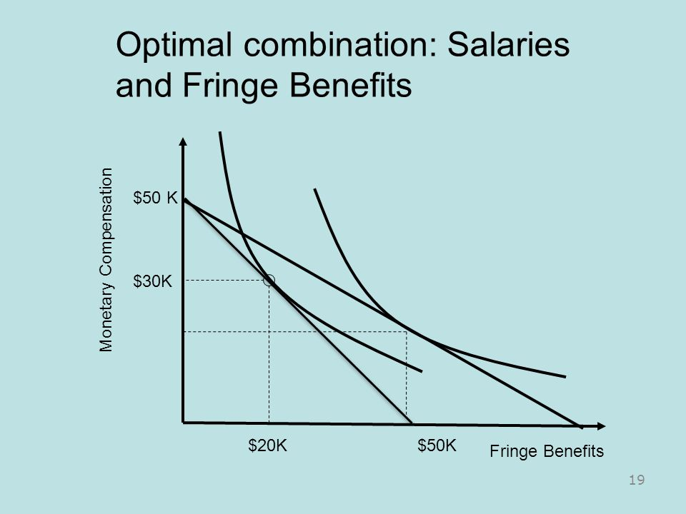 Optimal combination: Salaries and Fringe Benefits