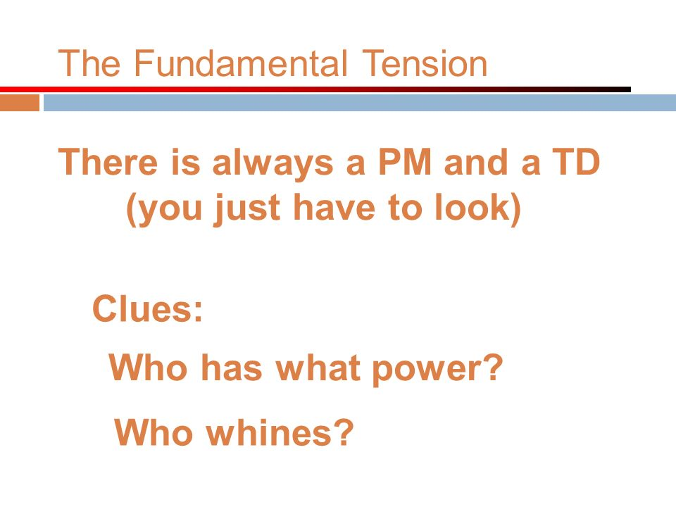 The Fundamental Tension