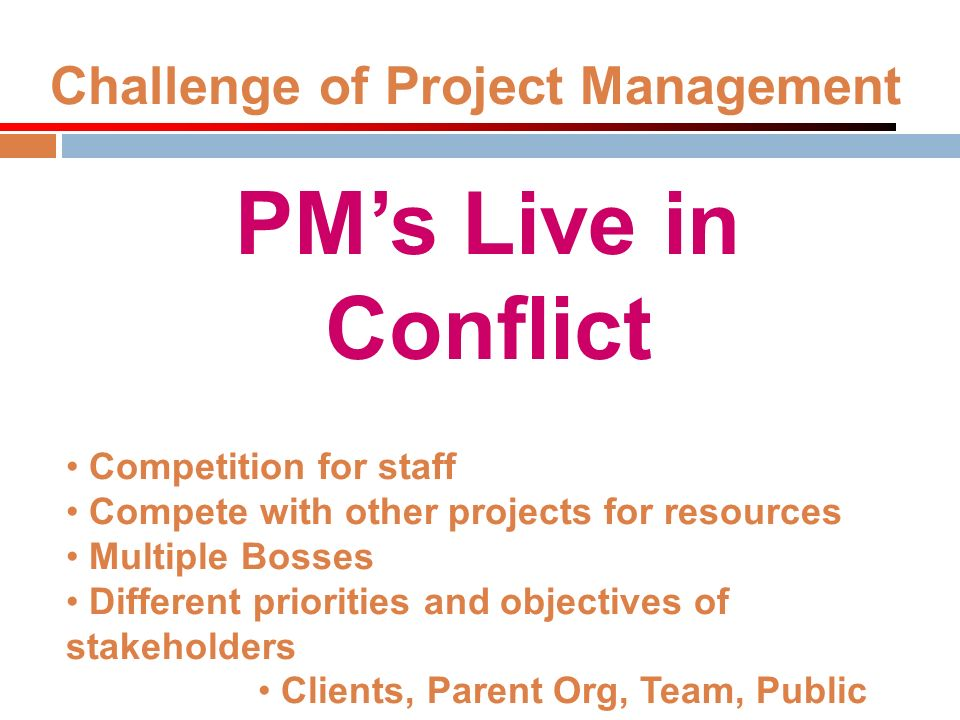 Challenge of Project Management