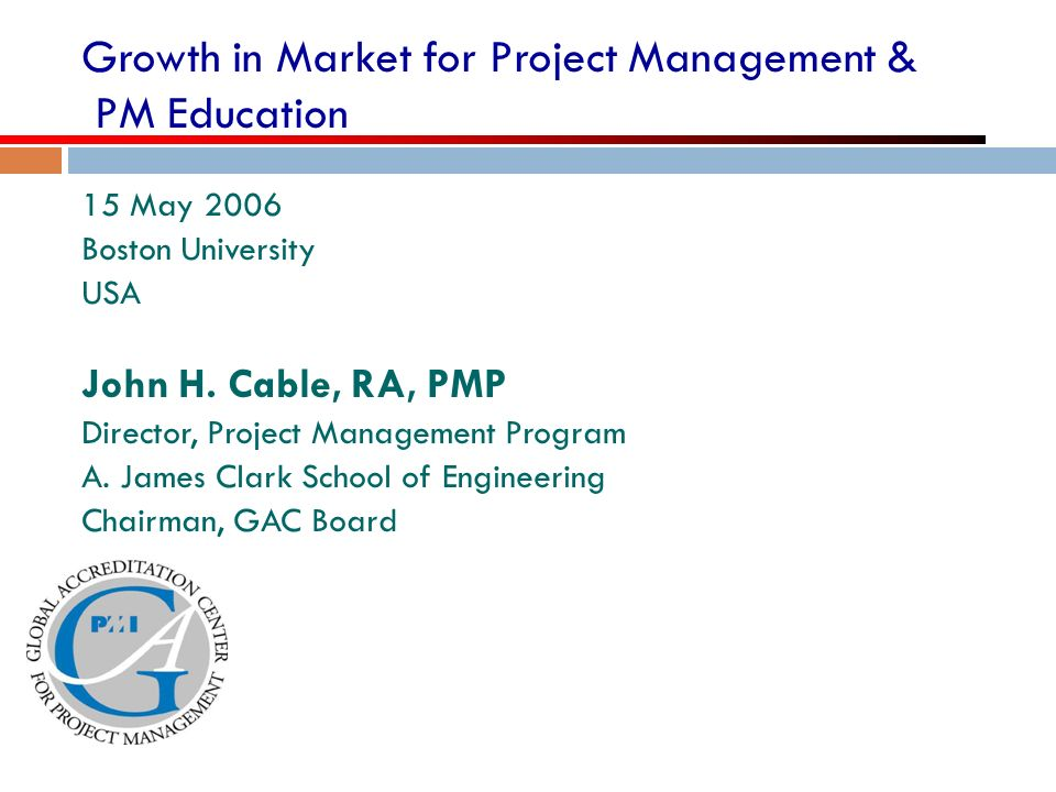 Growth in Market for Project Management & PM Education