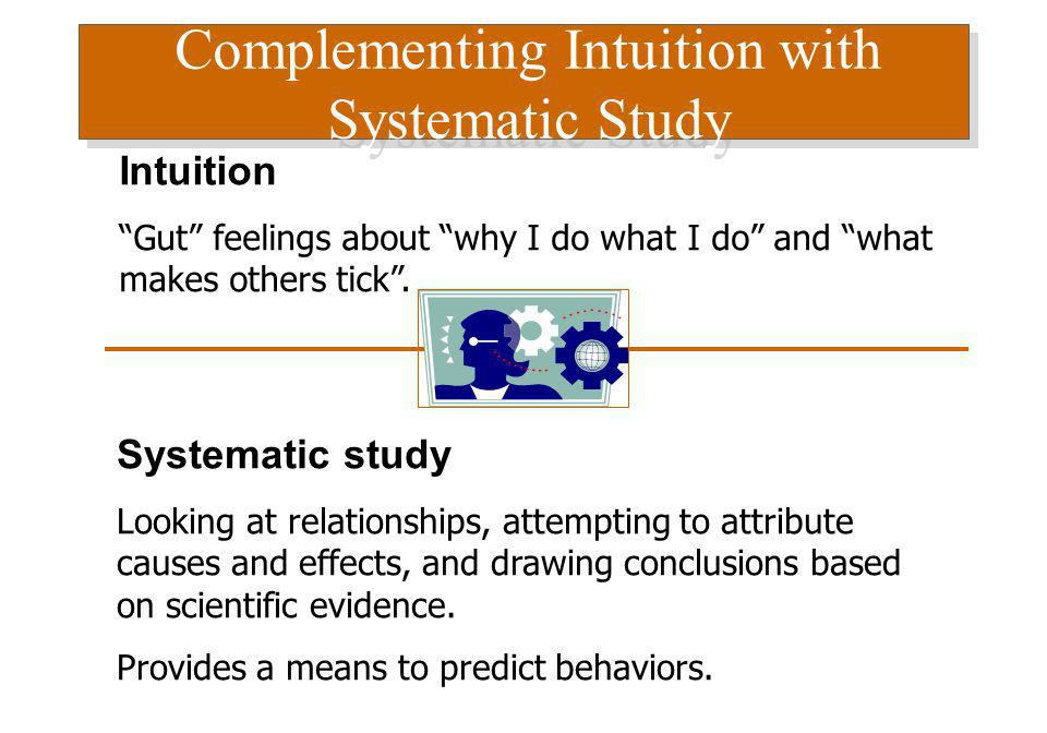 Complementing Intuition with Systematic Study