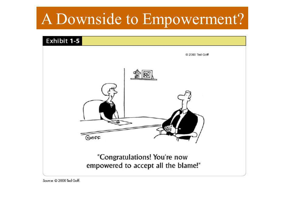 A Downside to Empowerment