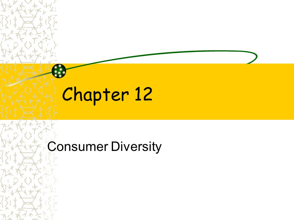Chapter 12 Consumer Diversity