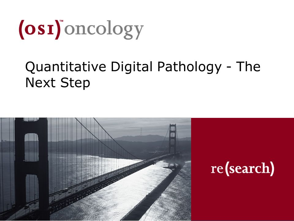 Quantitative Digital Pathology - The Next Step