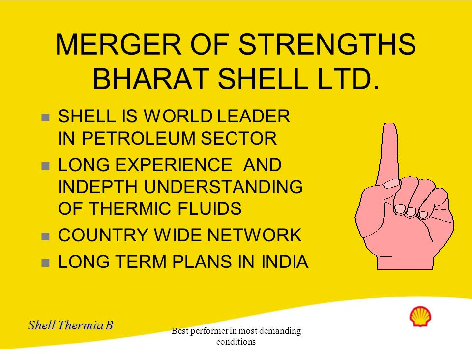 MERGER OF STRENGTHS BHARAT SHELL LTD.