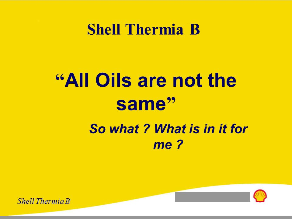 All Oils are not the same