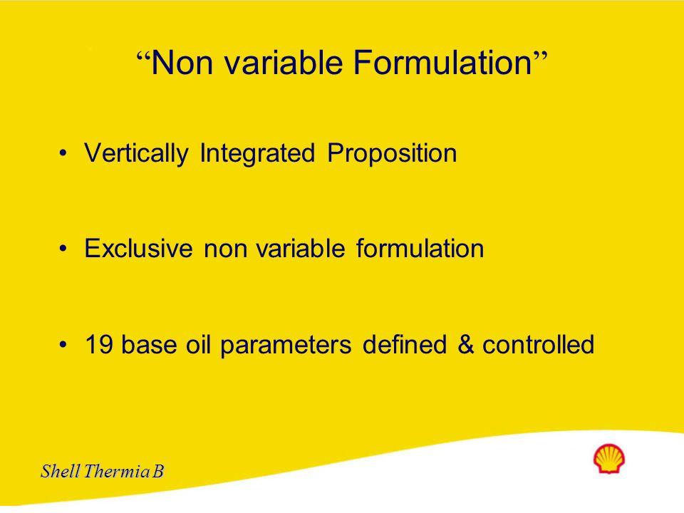 Non variable Formulation