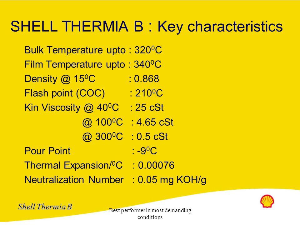 SHELL THERMIA B : Key characteristics