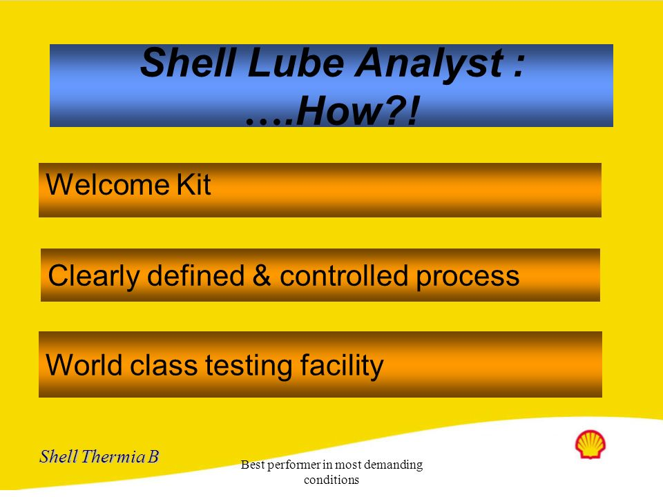 Shell Lube Analyst : ….How !