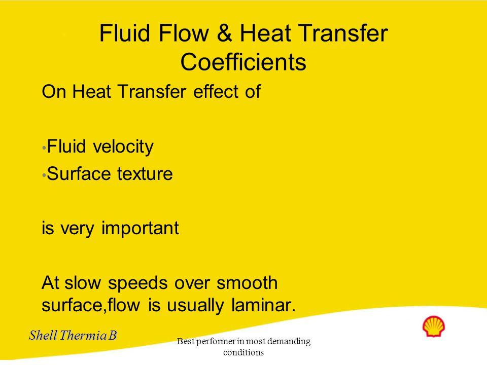 Fluid Flow & Heat Transfer Coefficients