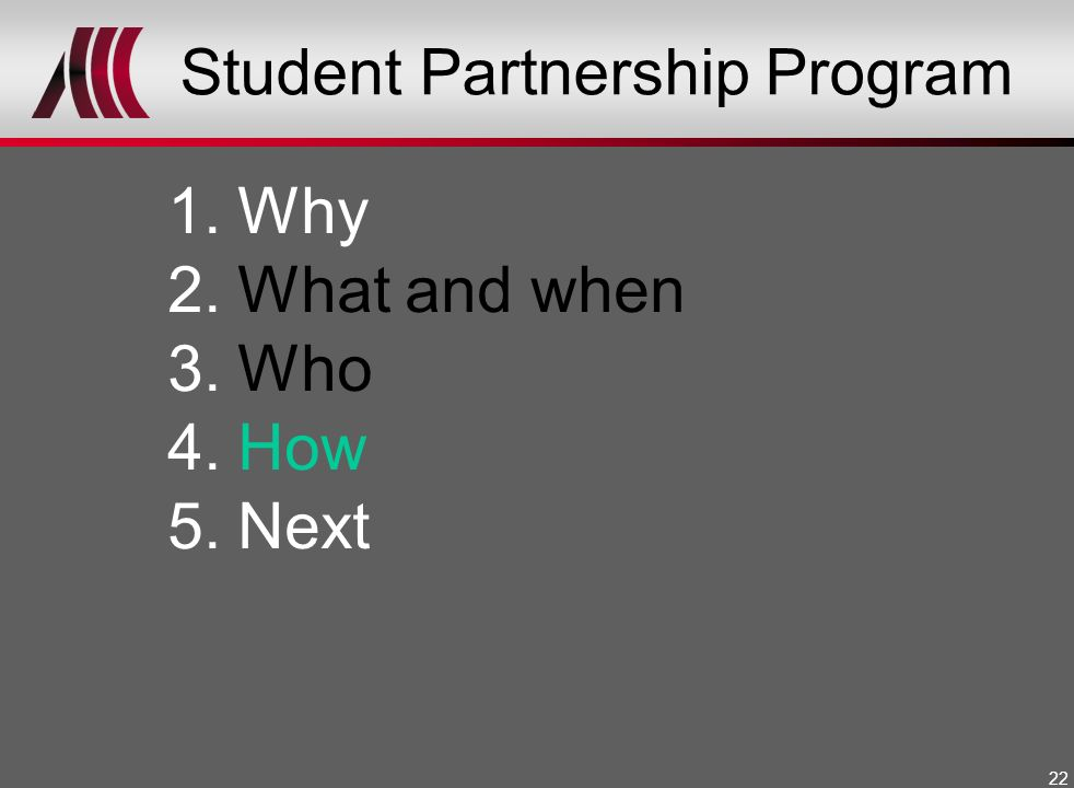 Student Partnership Program