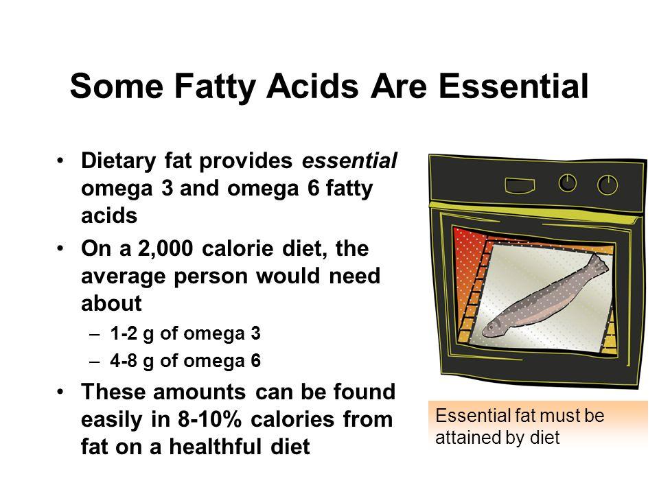 Some Fatty Acids Are Essential