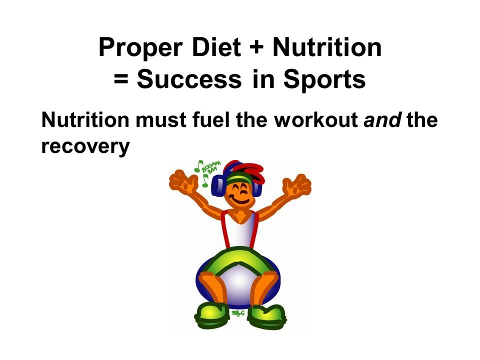Proper Diet + Nutrition = Success in Sports