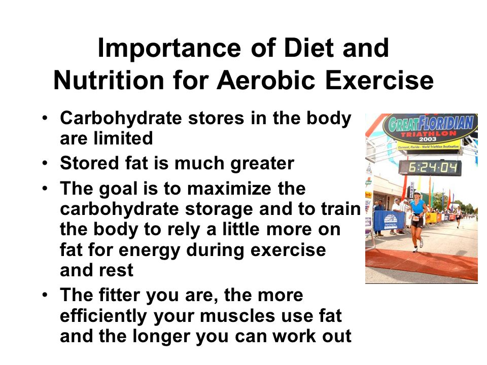 Importance of Diet and Nutrition for Aerobic Exercise