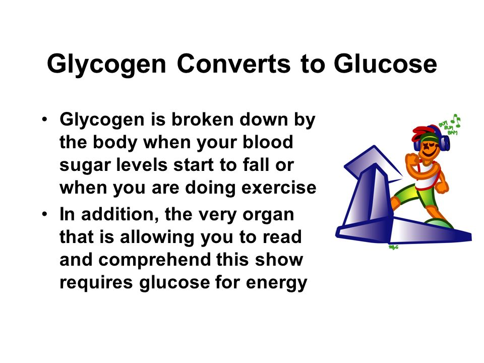 Glycogen Converts to Glucose