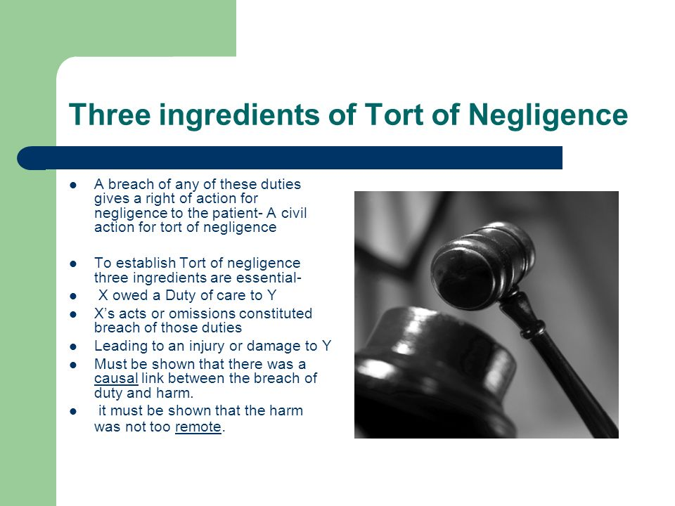 Three ingredients of Tort of Negligence