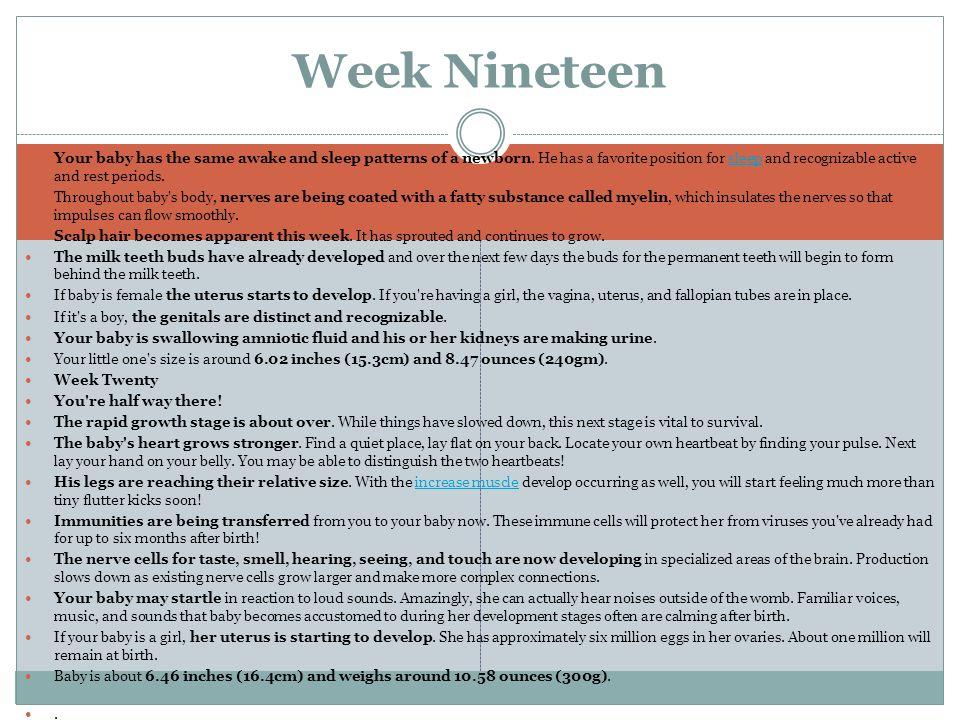 Week Nineteen