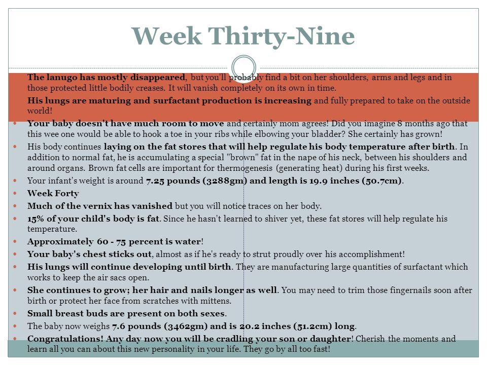 Week Thirty-Nine