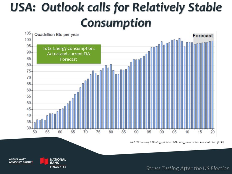 USA: Outlook calls for Relatively Stable Consumption