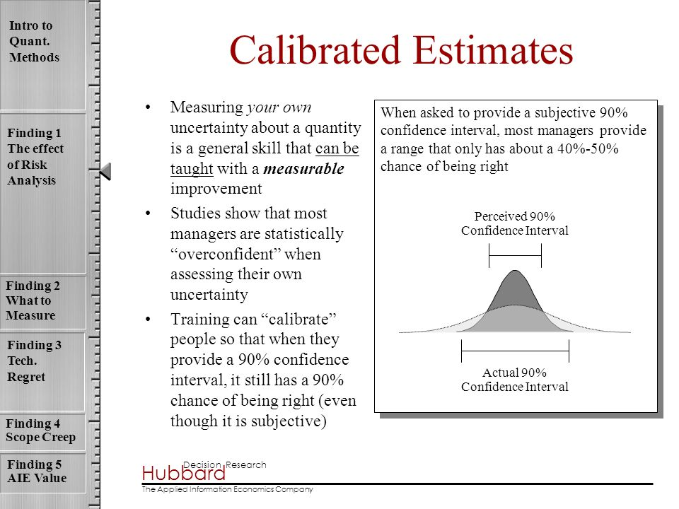 Calibrated Estimates Measuring your own uncertainty about a quantity is a general skill that can be taught with a measurable improvement.
