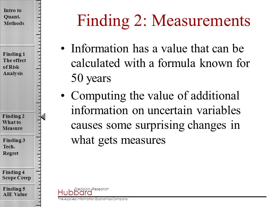 Finding 2: Measurements