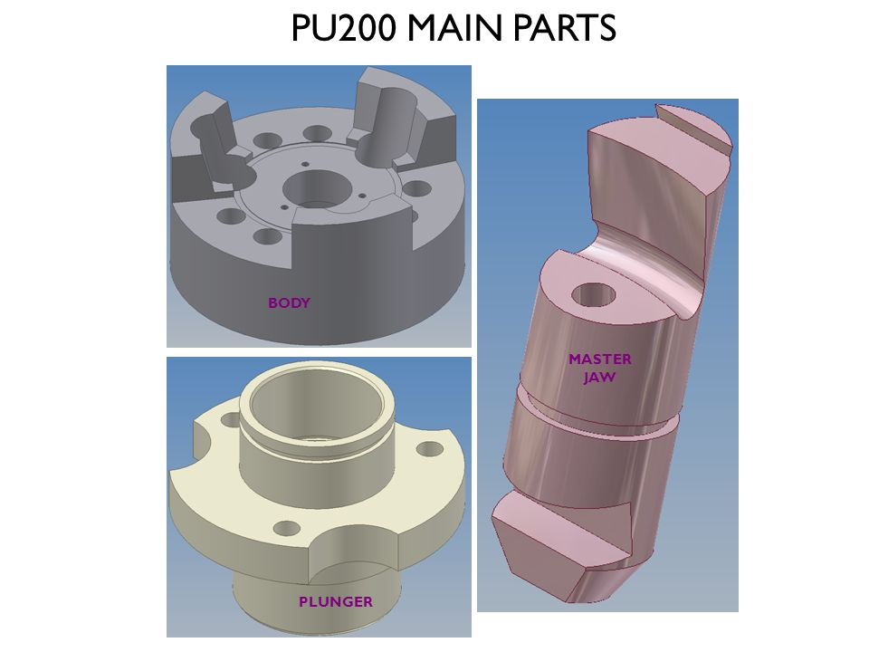 PU200 MAIN PARTS BODY MASTER JAW PLUNGER