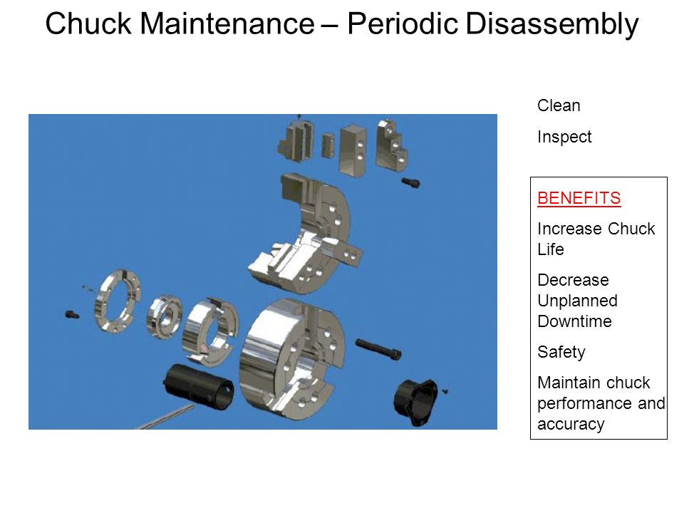 Chuck Maintenance – Periodic Disassembly