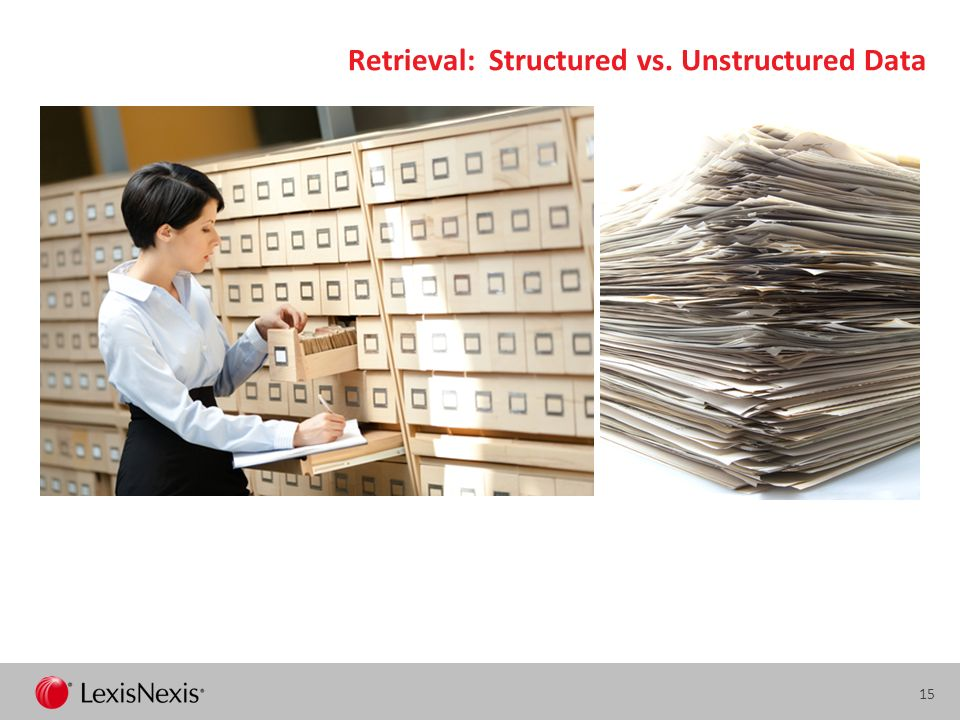 Retrieval: Structured vs. Unstructured Data