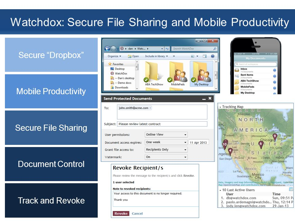 Watchdox: Secure File Sharing and Mobile Productivity