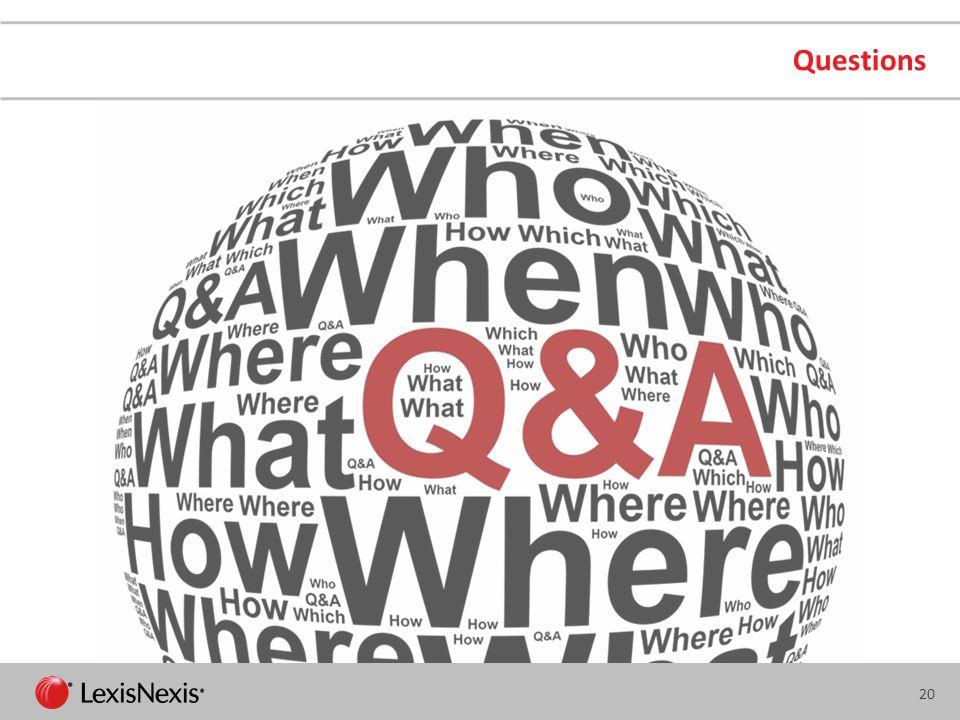 Questions LexisNexis
