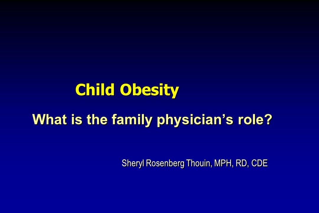 What is the family physician's role