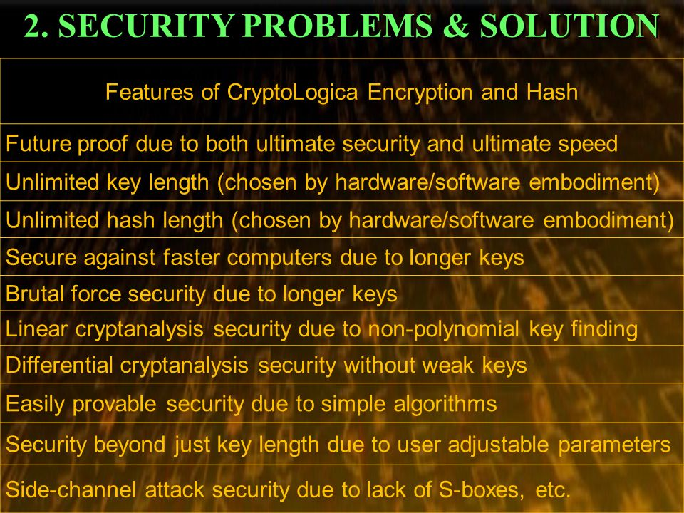 2. SECURITY PROBLEMS & SOLUTION