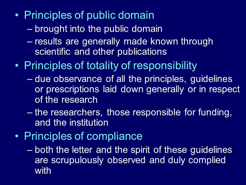 Principles of public domain
