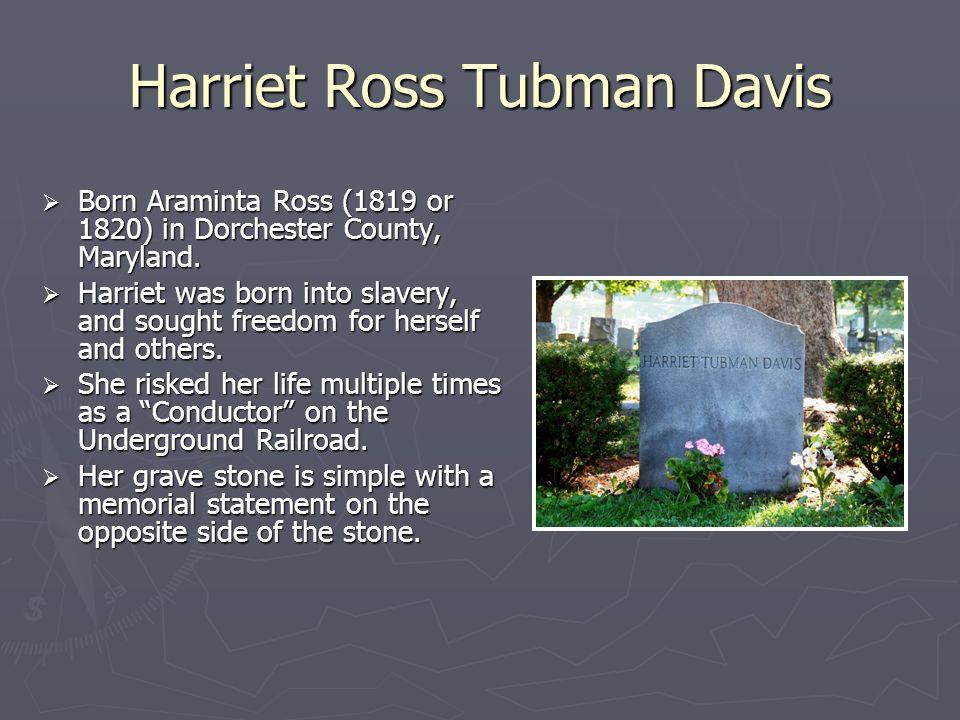 Harriet Ross Tubman Davis
