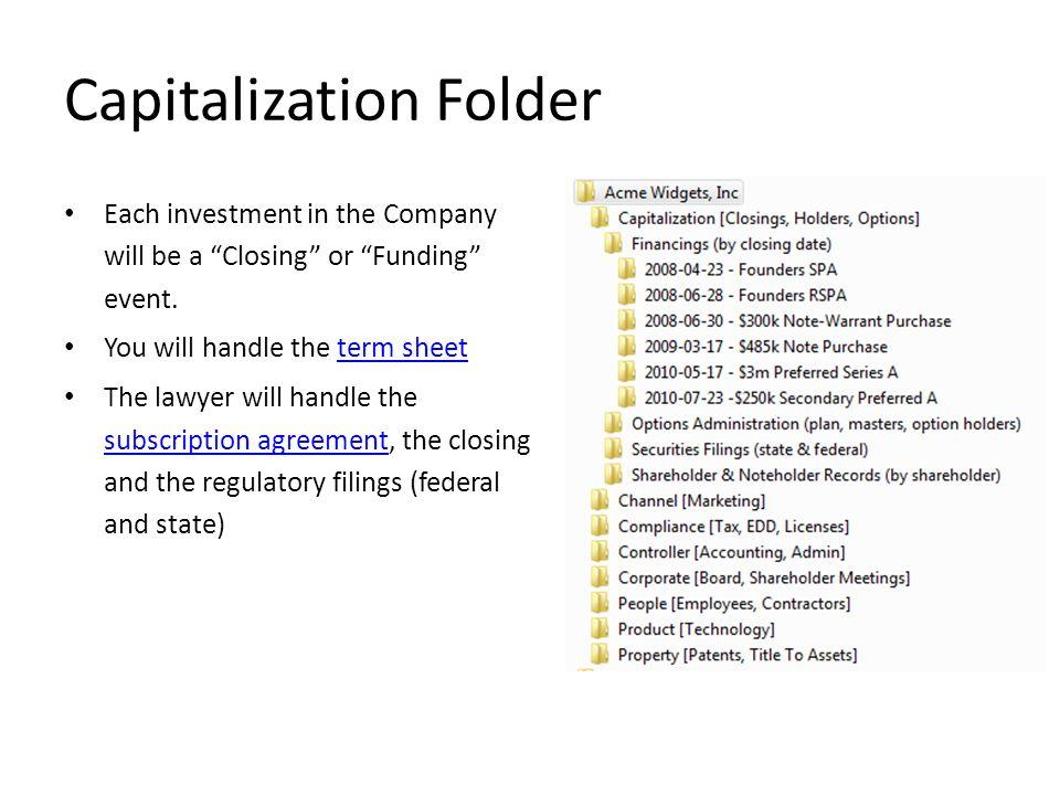 Capitalization Folder