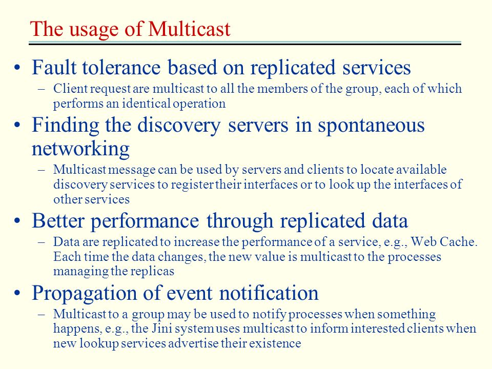 Fault tolerance based on replicated services