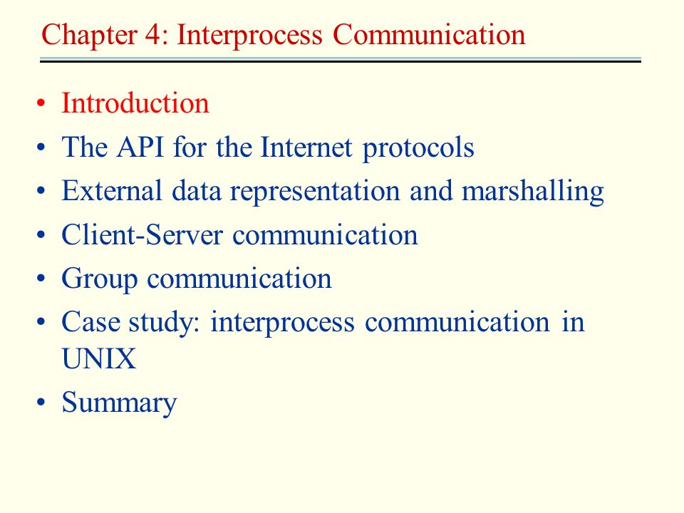 Chapter 4: Interprocess Communication
