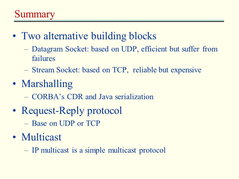 Two alternative building blocks