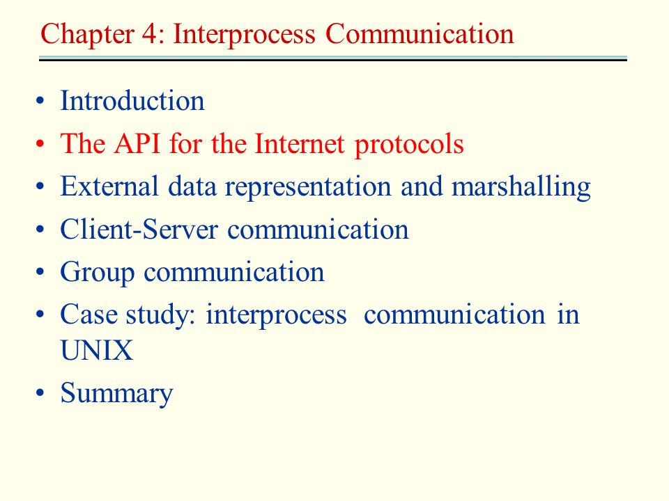 Chapter 4: Interprocess Communication